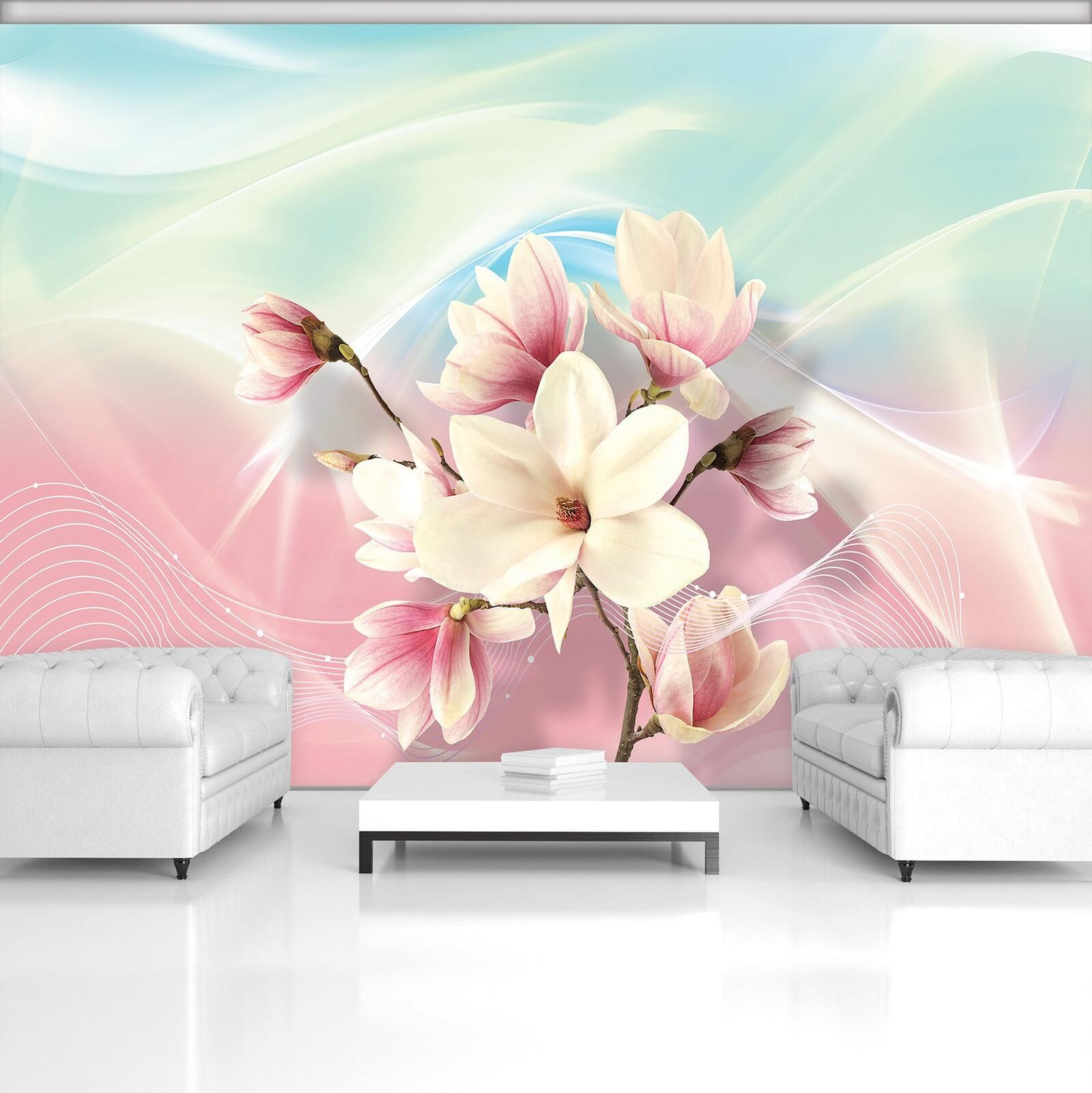 Photo Wallpaper Mural Non-woven 20031_VEN Abstract Magnolia  Nature Plants Flowe