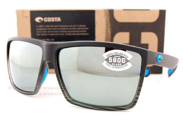 97109179eb4f6 Costa Del Mar Sunglasses RINCON Matte Smoke Crystal Fade Gray Silver Mirror  580G