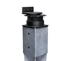 K-amp-R-Terracon-Terrassenlager-FLEX-fuer-Bodeneinschlaghuelsen-Eindrehhuelsen-90x90-mm