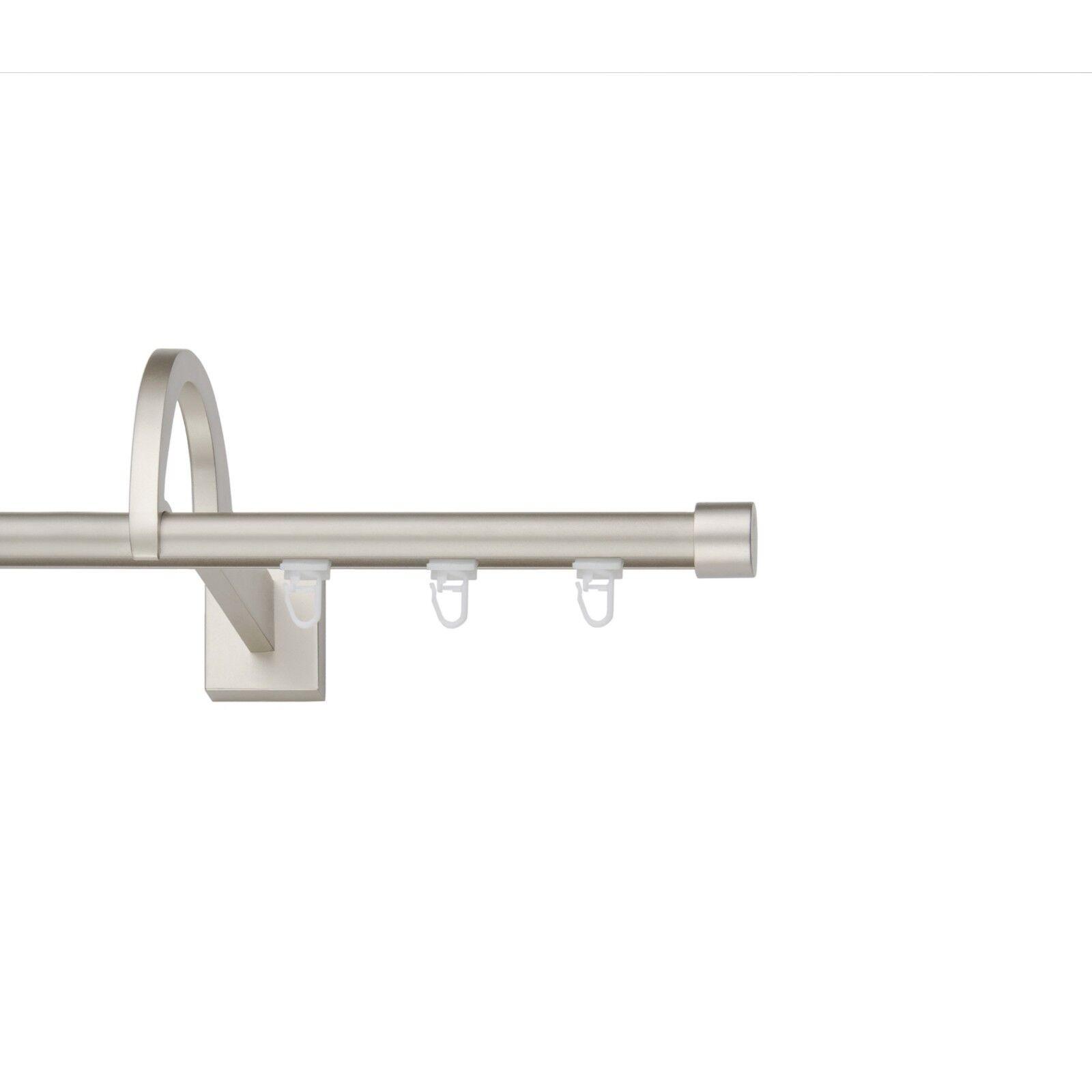 Innenlauf 19mm mit außergewöhnlicher Halterung(Chrom-Matt),1 2-Läuf, 120-600cm | Reichhaltiges Design