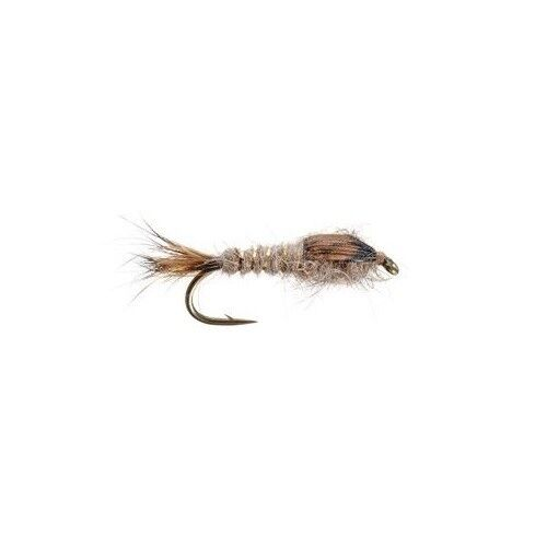 Gold Ribbed Hare/'s Ear Natural #18 Trout Fly by Umpqua NEW FREE SHIPPING 3