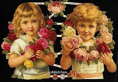 # Glanzbilder # Ef 7290 2 Große Mädchen Rheuma Lindern Wunderschöne Farben