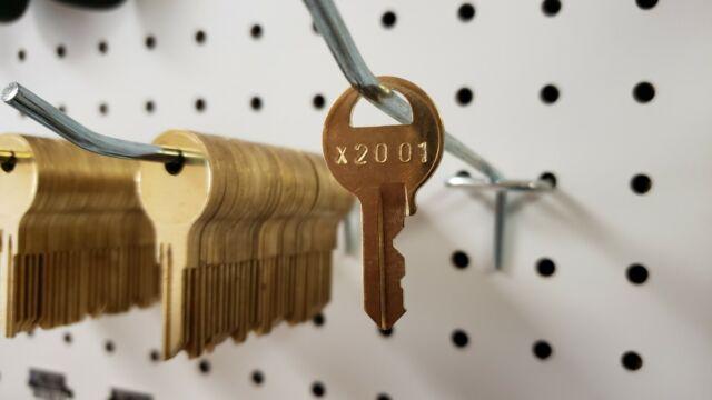 Keys for Master padlock #1 cut to your code Licensed Locksmith. X2401-X2440 KEY