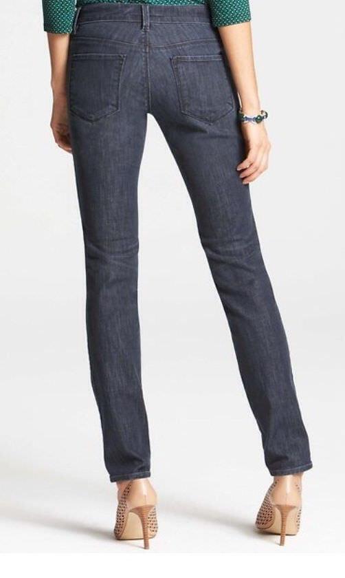 Ann Taylor 50 Damsel Dark Blue Wash Modern Skinny Jeans $89.00