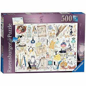 Ravensburger: Crazy Cats Alphabet 500 Piece Puzzle *BRAND NEW*