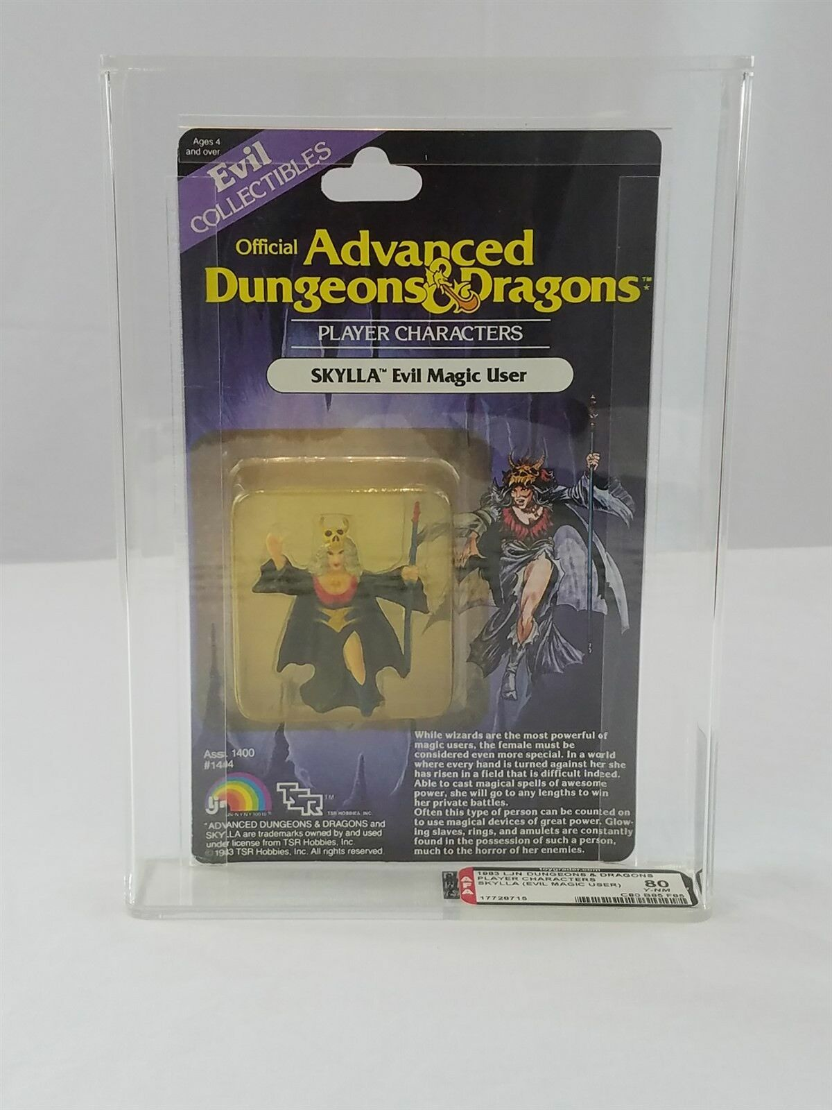 AD&D cieloLLA EVIL MAGIC USER LJN AFA 80 Y-NM DUNGEONS DUNGEONS DUNGEONS DRAGONS 2a3c29
