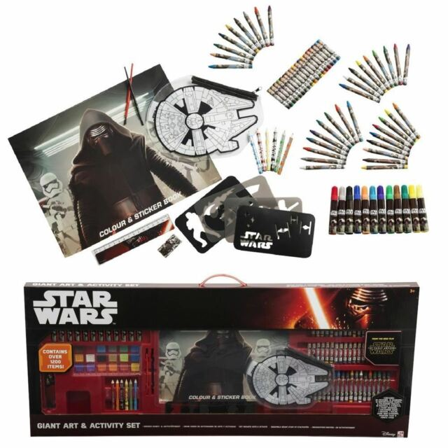 Star Wars 52 Piece MEGA Art Colouring Box Case Gift Set