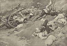 A1151 Guerra Russo-Giapponese - Sulle trincee di Port-Arthur_Stampa Antica 1905