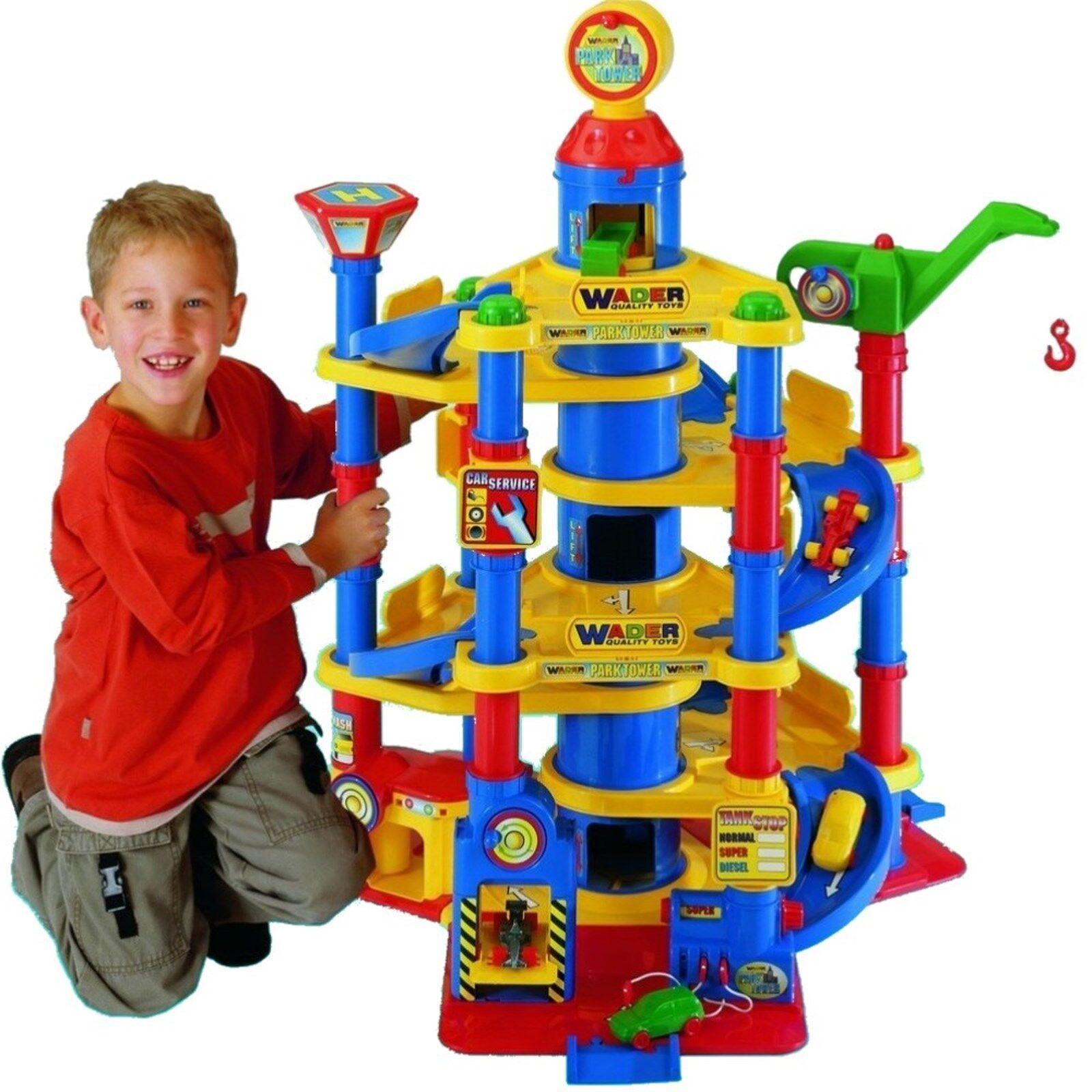 Park Tower mit 7 Ebenen + Autos Garage Parkhaus Parkgarage Wader 37848 Neu