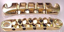 ULTIMATE BASS GUITAR BRIDGE TAILPIECE UNIT - GOLD
