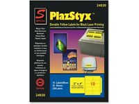 Sj Paper Plazstyx Durable Laser Printing Labels on sale