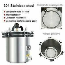 18l Stainless Steel Steam Autoclave Sterilizer Dental Pressure Sterilization