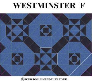 FLOOR TILES DOLLHOUSE TILES./& FLOORING.WESTMINSTER DOLLHOUSE MINIATURES C