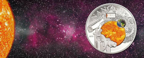 10$ 50g Silver Proof Coin Cook Islands 2013 With NANO Chip NANO SPACE