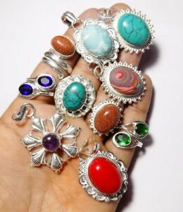 925 STERLING SILVER OVERLAY ANTIQUE DESIGN JEWELRY10PC SEASONABLE PRICE JEWELRY