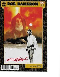 Star-Wars-Poe-Dameron-13-A-NEW-HOPE-LUKE-VARIANT-signed-Jeff-Dekal-NM
