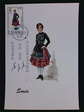 Spain MK 1970 Costumes Soria Trachten Maximum cartolina MAXIMUM CARD MC cm c6067