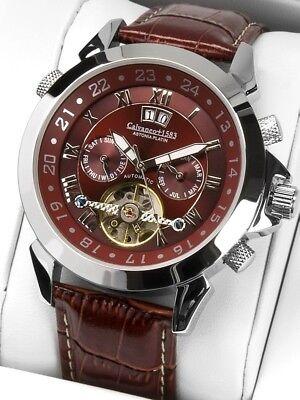 """Armband- & Taschenuhren Billiger Preis Calvaneo 1583 Original """"astonia Cognac"""" Hochfein Platiniert Mit Automatikkaliber Kaufen Sie Immer Gut Armbanduhren"""