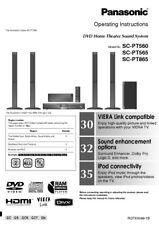 panasonic sc pt560 home theater system ebay rh ebay com panasonic 5.1 surround sound system manual Panasonic Home Theater System