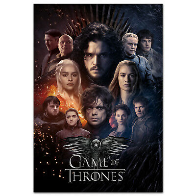 Game Of Thrones Season 8 Poster Exclusive Design High Quality Prints Ebay