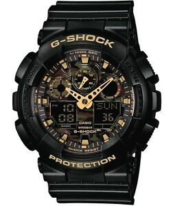Casio-G-Shock-GA100CF-1A9-Camo-Face-XL-Black-Gold-Ivanandsophia-COD-PayPal