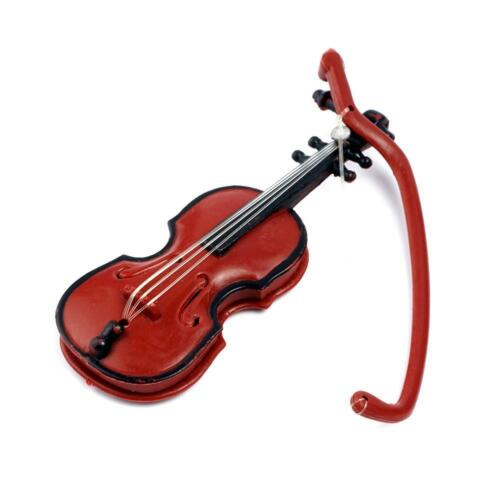 1:12 Dolls House Miniature Music Instrument Violin Model Room Garden Low Price