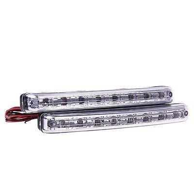 Car Vehicles 8LED Daytime Running Light DRL Kit Fog Lamp Day Driving Daylight