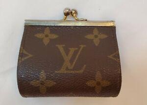 RARE-Vintage-LOUIS-VUITTON-Neiman-Marcus-Coin-Purse-Kiss-Lock