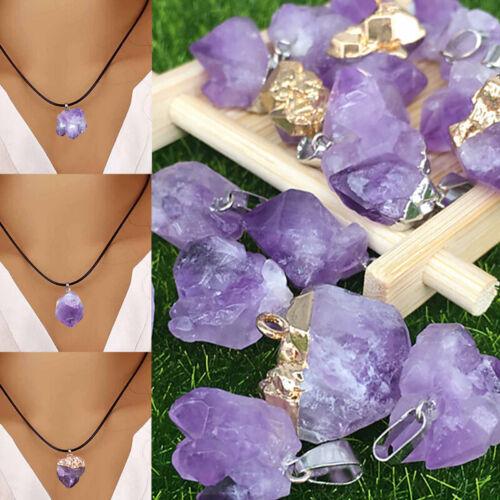Natural Gemstone Crystal Pendulum Healing Dowsing Chakra Reiki Pendants Necklace