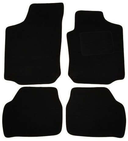 LHD 4 METAL RINGS Tailored Car Floor Mats Black JAGUAR X TYPE 2001 on