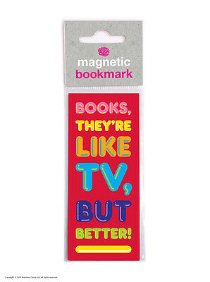 Brainbox Candy Better Than TV magnetic bookmark funny cheap present gift reading