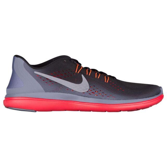 969d66617ccf0 Nike Flex 2017 RN Mens 898457-012 Black Carbon Grey Red Running ...