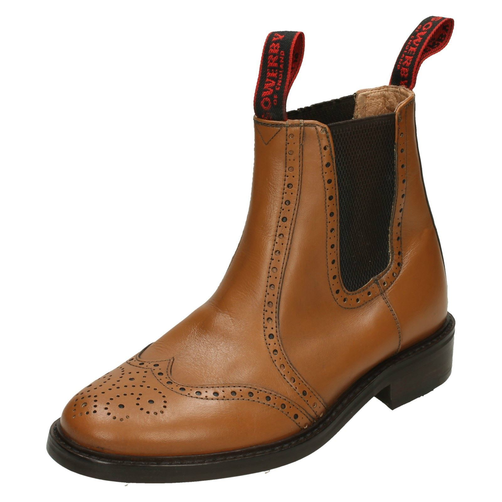 Mens Sowerby All Leather Chelsea Boot - Brogue Detail Appleby