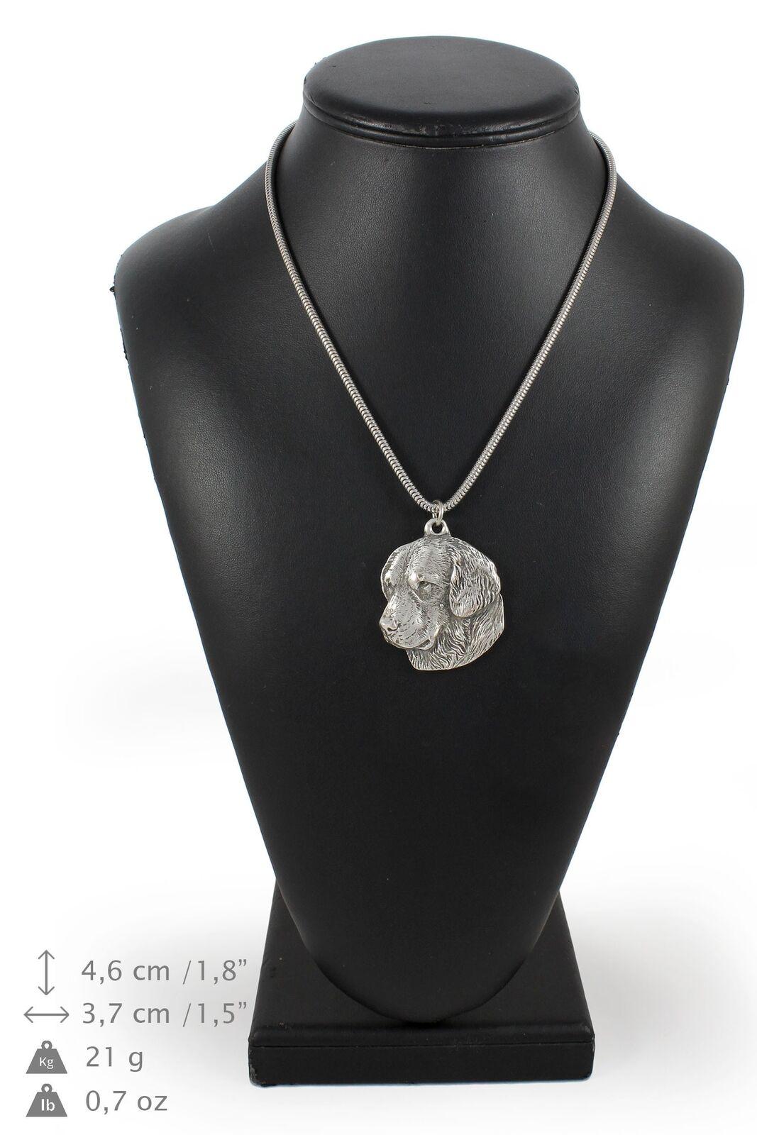 oroen Retriever - argento plaqué collier sur une cordon en argento Art Dog FR