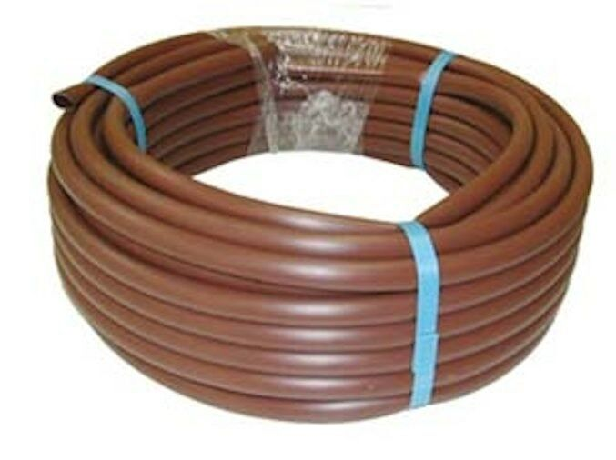 Tubo de polietileno con goteros para la instalacion de riego por goteo d. 16