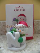 """2013 Hallmark """"N"""" is For Nip in the Air Snowman Let it Snow Christmas Ornament"""