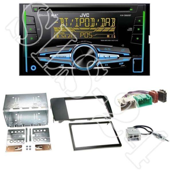 Amichevole Jvc Kw-db92bt Radio + Volvo S60/v70 Dal 09/04 Mascherina 2-din Nero + Adattatore Iso Set Luminoso A Colori