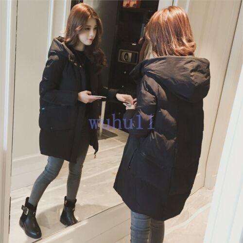 Outwear Kvinders Chic Wu Loose Coat koreanske Winter Down Solid Thicken Jacket q8x7wAq