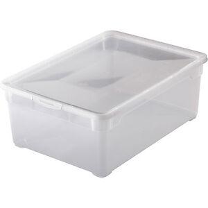 rotho clear box deckel schuhe aufbewahrungsbox m nnerschuhe 36 5x26 5x14cm 10 l ebay. Black Bedroom Furniture Sets. Home Design Ideas