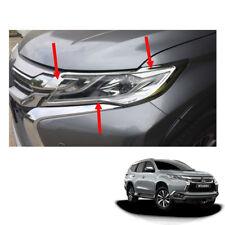 For Mitsubishi Pajero Montero Sport 2015-2016 Matte Black Head Lamp Cover 1 Pair
