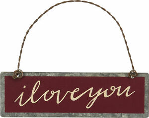 PBK Valentines Decor All of Me Loves All of You Red Ornament Sign