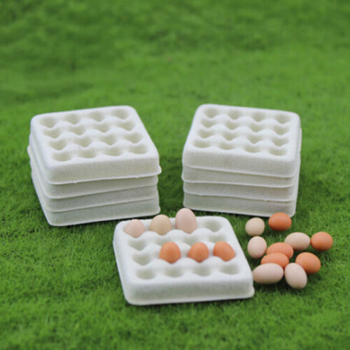 Dollhouse toy model miniature food playing mini empty egg tray Pip SP