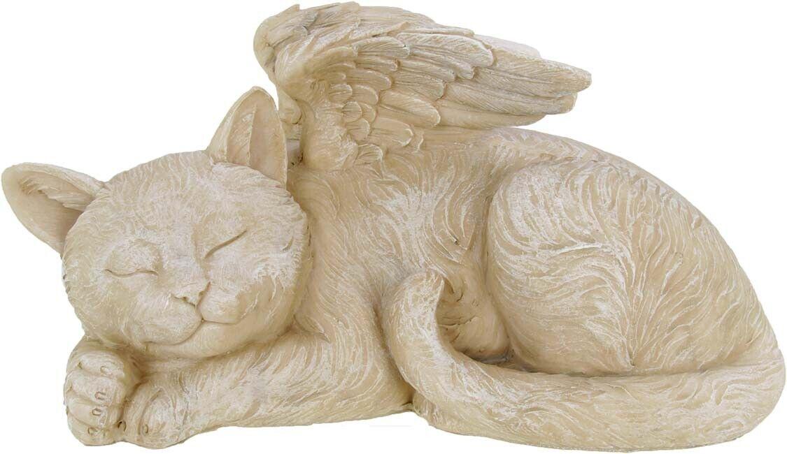 GD731 Katzenurne mit Engelsflügeln, Urne für Katzen, Tierurne - 1 Liter