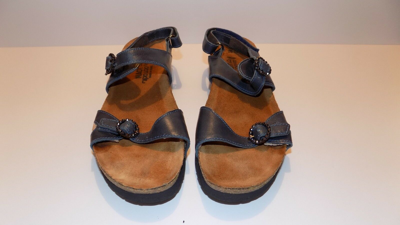 Women's Naot bluee Leather Ankle Strap Sandals US Size 7 EUR 38