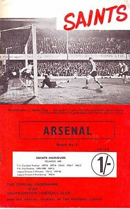 SOUTHAMPTON V ARSENAL TOP DIV1968 Inc FLR VOL 3 NUM 6 VGC - <span itemprop=availableAtOrFrom>Bristol, United Kingdom</span> - SOUTHAMPTON V ARSENAL TOP DIV1968 Inc FLR VOL 3 NUM 6 VGC - Bristol, United Kingdom