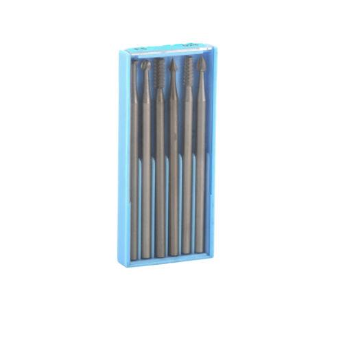 6Pcs Double Cut Carbide Rotary Files Burr Drill Bits Set Pour Bois 2.35 mm tige