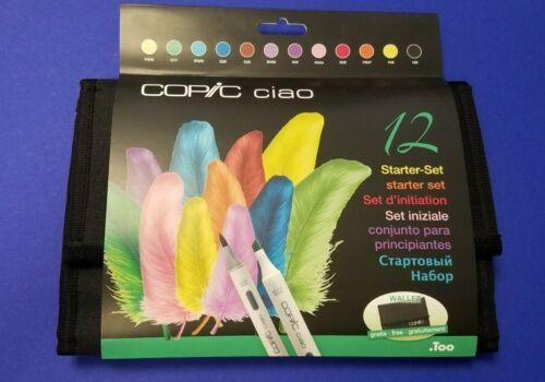 Copic Ciao Starter Set 12 er Set GRATIS TASCHE NEU!