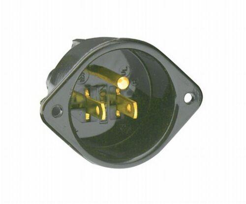 Black Leviton 5239  6 Pack 15Amp 125V Flanged Inlet Receptacle