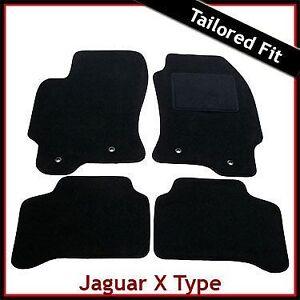 JAGUAR-X-Type-2-0-amp-2-2-LITRI-2001-2009-SU-MISURA-TAPPETINI-AUTO-MOQUETTE-NERA
