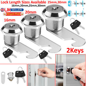Keys High Quality New Cam Lock for Door Cabinet Mailbox Drawer Cupboard 16mm